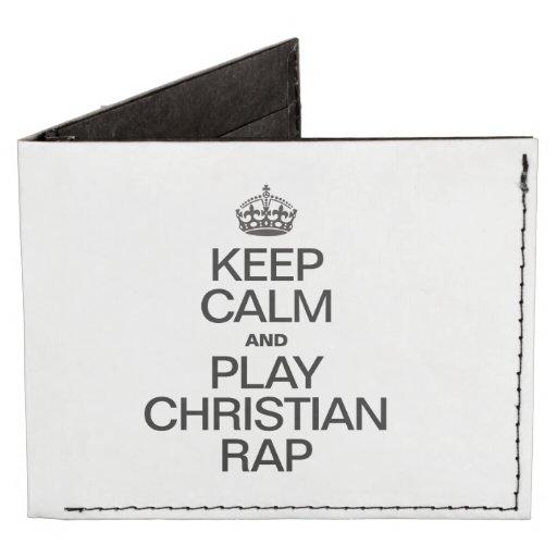 KEEP CALM AND PLAY CHRISTIAN RAP TYVEK® BILLFOLD WALLET
