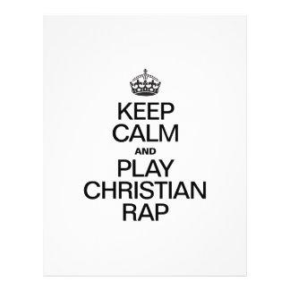 KEEP CALM AND PLAY CHRISTIAN RAP FULL COLOR FLYER