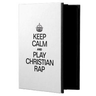KEEP CALM AND PLAY CHRISTIAN RAP iPad AIR CASES