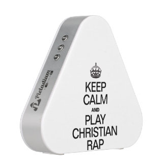 KEEP CALM AND PLAY CHRISTIAN RAP BLUETOOTH SPEAKER