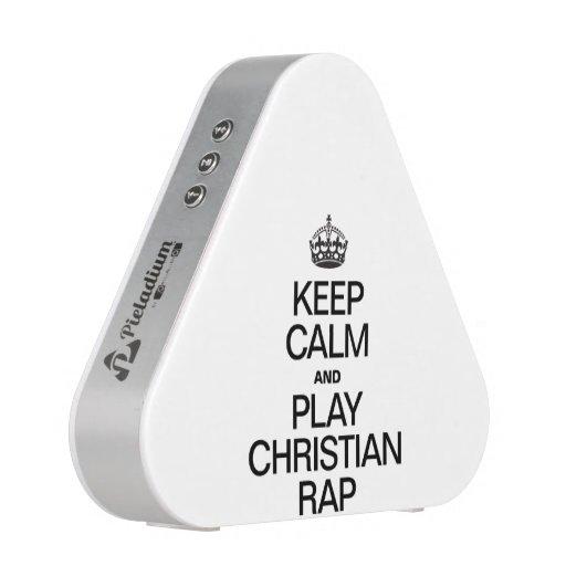 KEEP CALM AND PLAY CHRISTIAN RAP BLUETOOTH SPEAKER