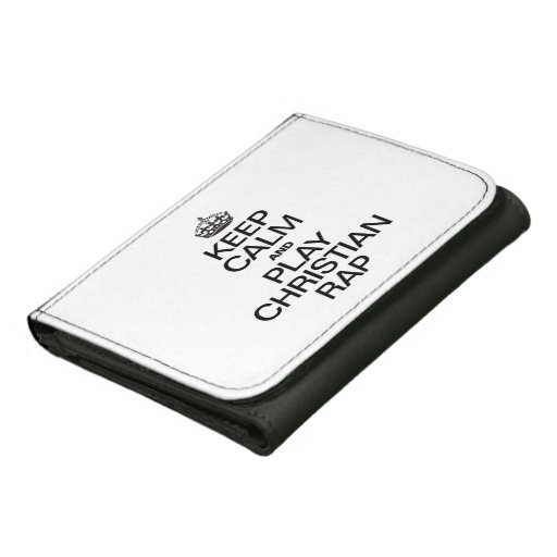 KEEP CALM AND PLAY CHRISTIAN RAP LEATHER WALLET