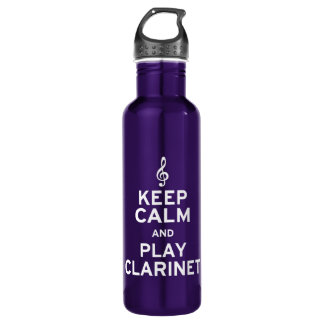 Keep Calm and Play Clarinet 24oz Water Bottle