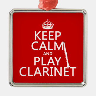 Keep Calm and Play Clarinet (any background color) Christmas Ornament