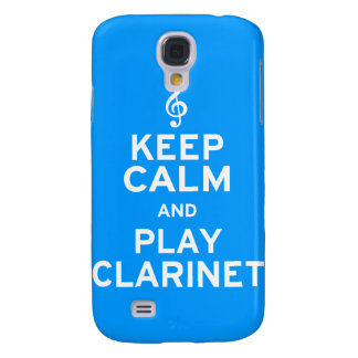 Keep Calm and Play Clarinet Samsung Galaxy S4 Cases