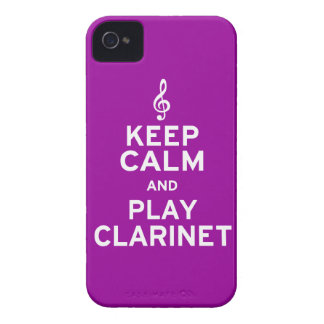 Keep Calm and Play Clarinet iPhone 4 Case-Mate Case