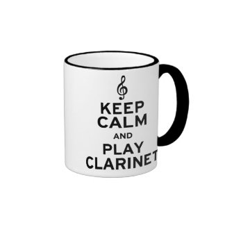 Keep Calm and Play Clarinet Ringer Coffee Mug