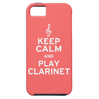 Keep Calm and Play Clarinet Tough iPhone 5 Case