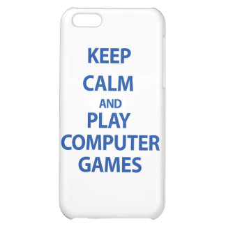 Keep Calm and Play Computer Games iPhone 5C Case