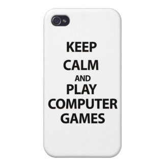 Keep Calm and Play Computer Games iPhone 4 Covers