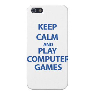 Keep Calm and Play Computer Games Covers For iPhone 5
