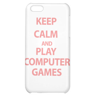 Keep Calm and Play Computer Games iPhone 5C Cover