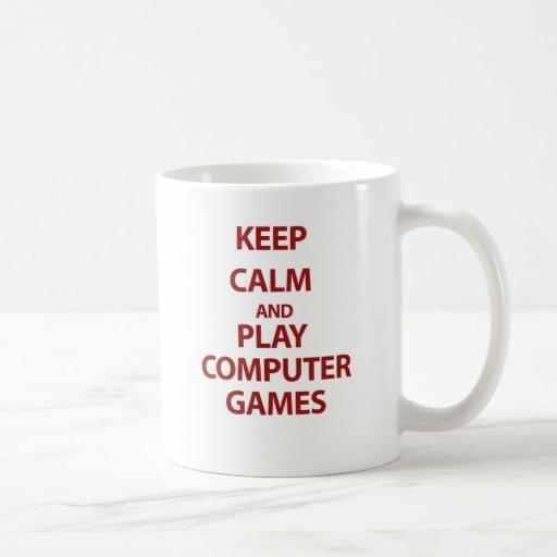 Keep Calm and Play Computer Games Coffee Mug