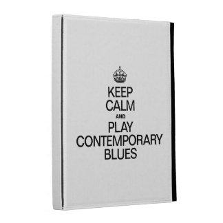 KEEP CALM AND PLAY CONTEMPORARY BLUES iPad FOLIO CASE