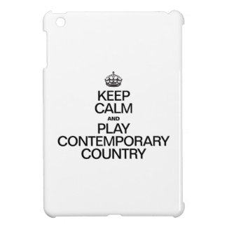 KEEP CALM AND PLAY CONTEMPORARY COUNTRY COVER FOR THE iPad MINI