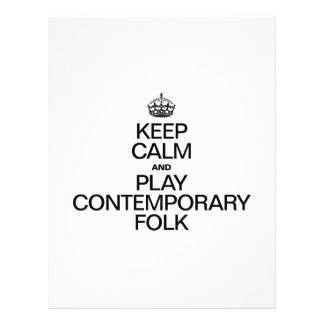 KEEP CALM AND PLAY CONTEMPORARY FOLK FLYER