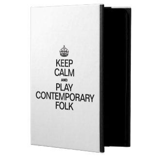 KEEP CALM AND PLAY CONTEMPORARY FOLK iPad AIR CASES