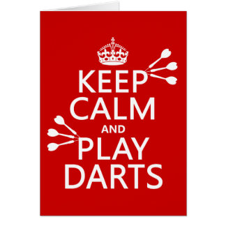 Keep Calm and Play Darts (customisable color) Card