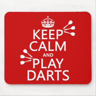 Keep Calm and Play Darts (customisable color) Mouse Mat