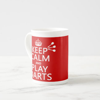 Keep Calm and Play Darts (customisable color) Tea Cup