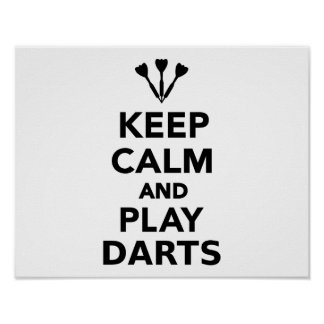 Keep calm and play Darts Poster