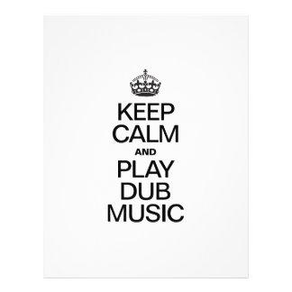 KEEP CALM AND PLAY DUB MUSIC FLYER