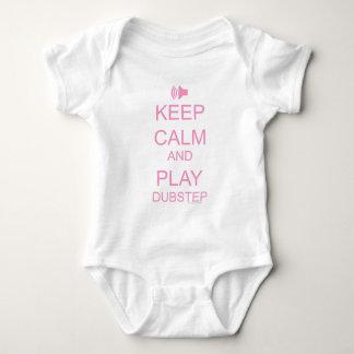 KEEP CALM and PLAY DUBSTEP Baby Bodysuit