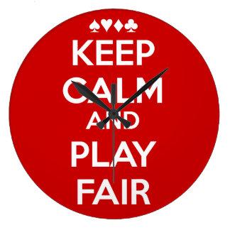 Keep Calm And Play Fair Wall Clocks
