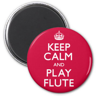 Keep Calm and Play Flute (Carry On) 6 Cm Round Magnet