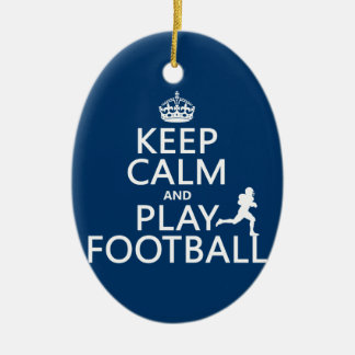 Keep Calm and Play Football (American Football) Christmas Ornament