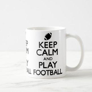 Keep Calm and Play Football (Carry On) Basic White Mug