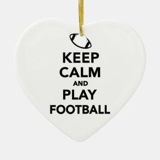 Keep calm and play Football Christmas Ornament