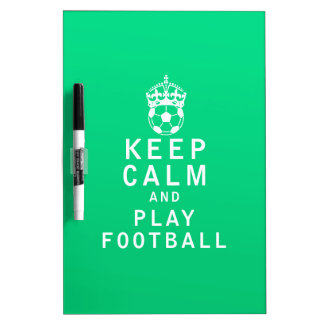 Keep Calm and Play Football Dry Erase Whiteboards