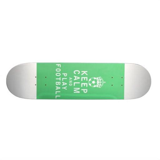 Keep Calm and Play Football Skateboard Decks