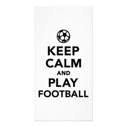 Keep calm and Play Football soccer Personalized Photo Card