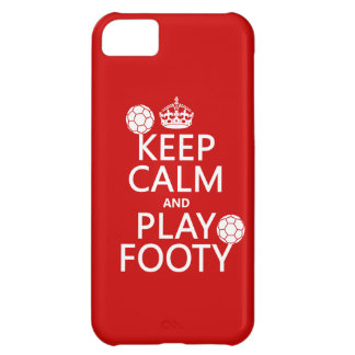 Keep Calm and Play Footy (football) (soccer) iPhone 5C Case