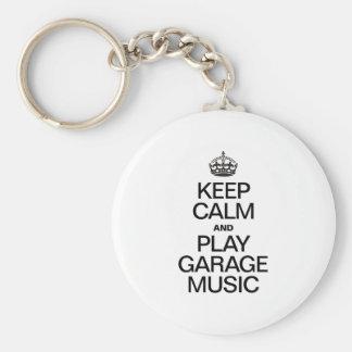 KEEP CALM AND PLAY GARAGE MUSIC KEYCHAINS
