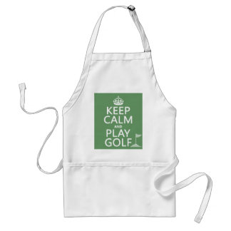 Keep Calm and Play Golf - all colors Apron