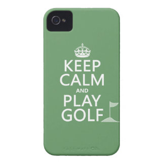 Keep Calm and Play Golf - all colors iPhone 4 Case-Mate Case