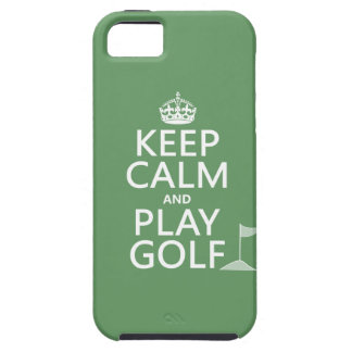 Keep Calm and Play Golf - all colors iPhone 5 Cases