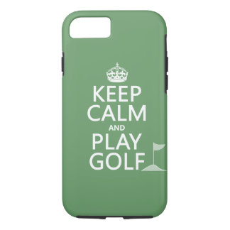 Keep Calm and Play Golf - all colors iPhone 8/7 Case