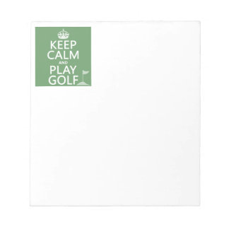 Keep Calm and Play Golf - all colors Notepad
