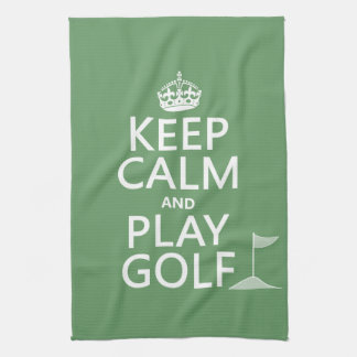 Keep Calm and Play Golf - all colors Tea Towel