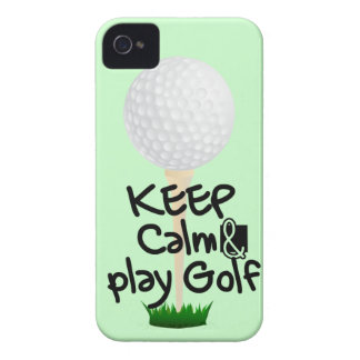 Keep Calm and play golf iPhone 4 Cover