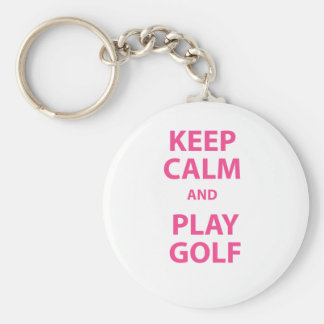 Keep Calm and Play Golf Key Ring