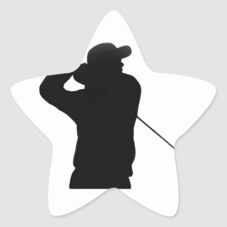 Keep calm and play golf star sticker