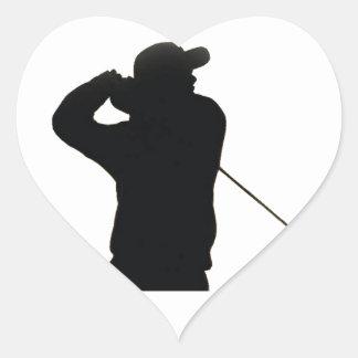 Keep calm and play golf heart sticker