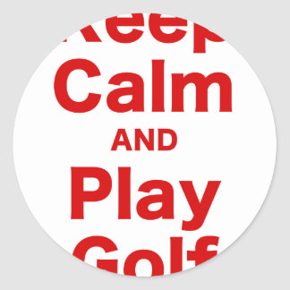 Keep Calm and Play Golf Stickers