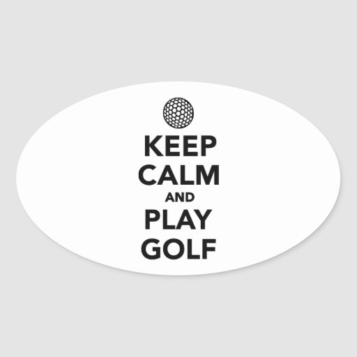 Keep calm and play Golf Sticker