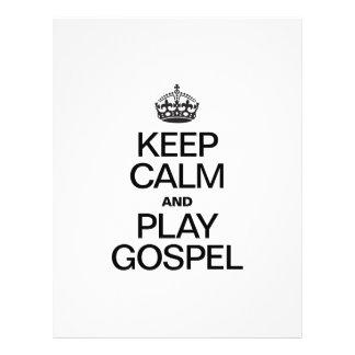 KEEP CALM AND PLAY GOSPEL FLYER